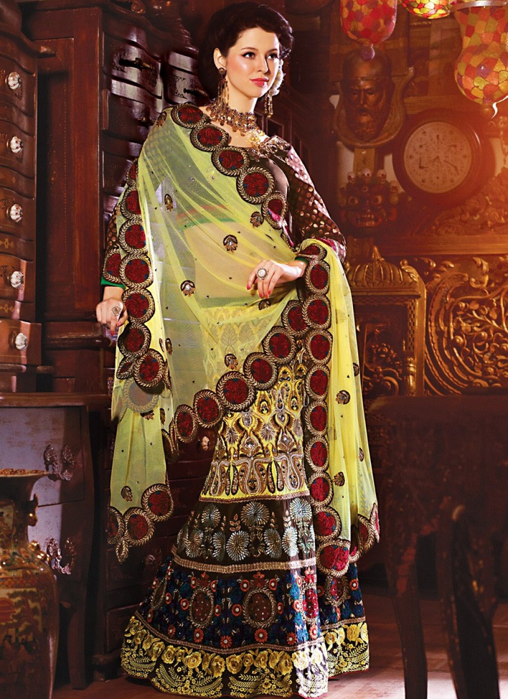 Gold Color Designer Lehenga Choli