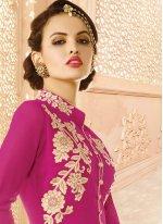 Hot Pink Designer Palazzo Salwar Suit