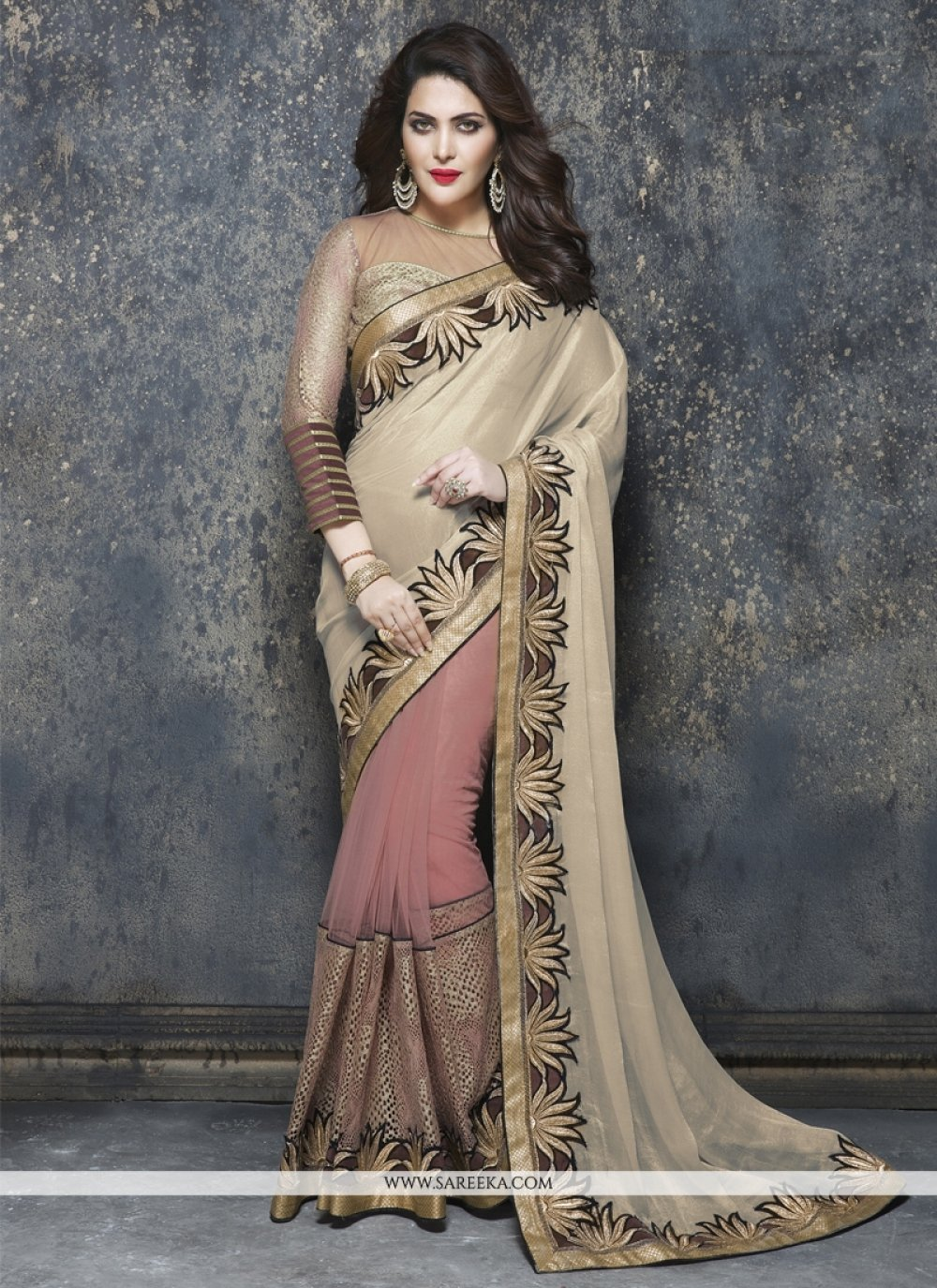 Viscose Embroidered Work Designer Saree