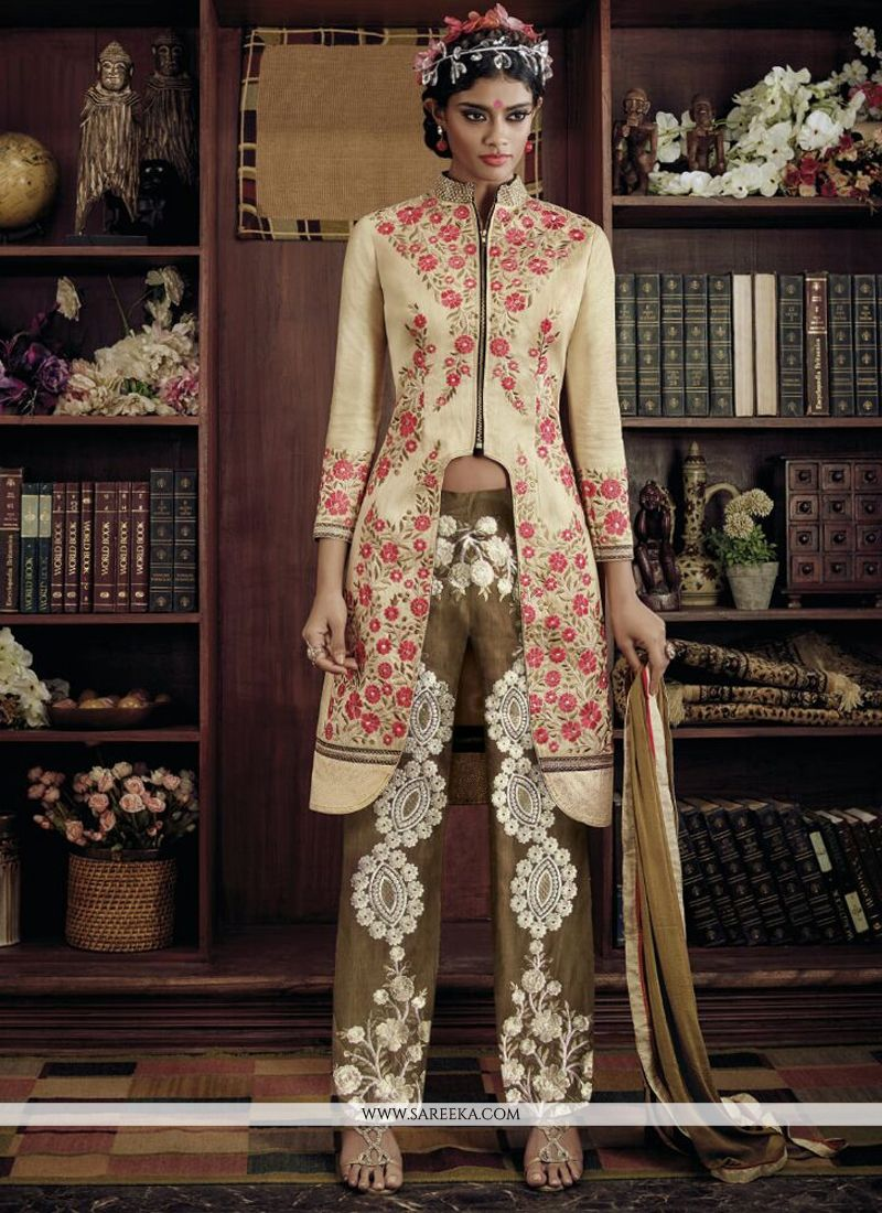 Embroidered Work Georgette Designer Suit