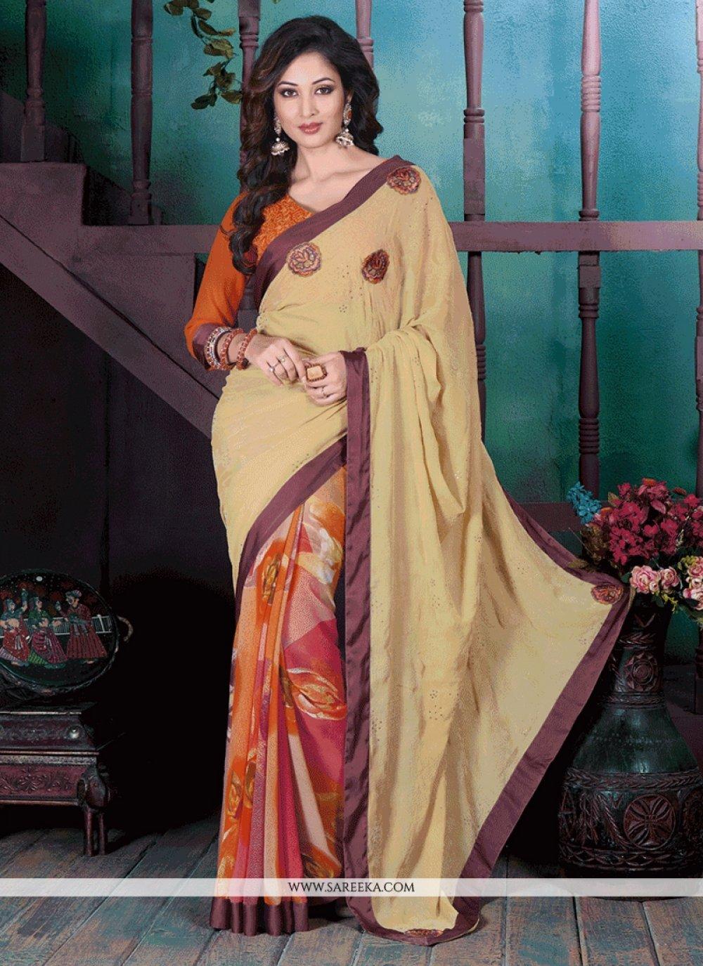 Print Work Casual Saree