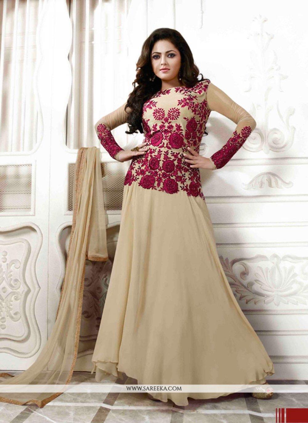Georgette Resham Work Anarkali Salwar Kameez