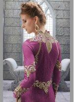 Net Embroidered Work Designer Suit