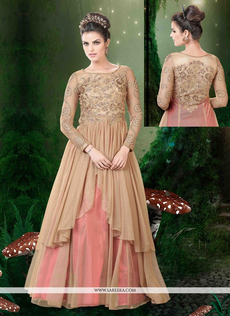 Net Embroidered Work Floor Length Anarkali Salwar Suit