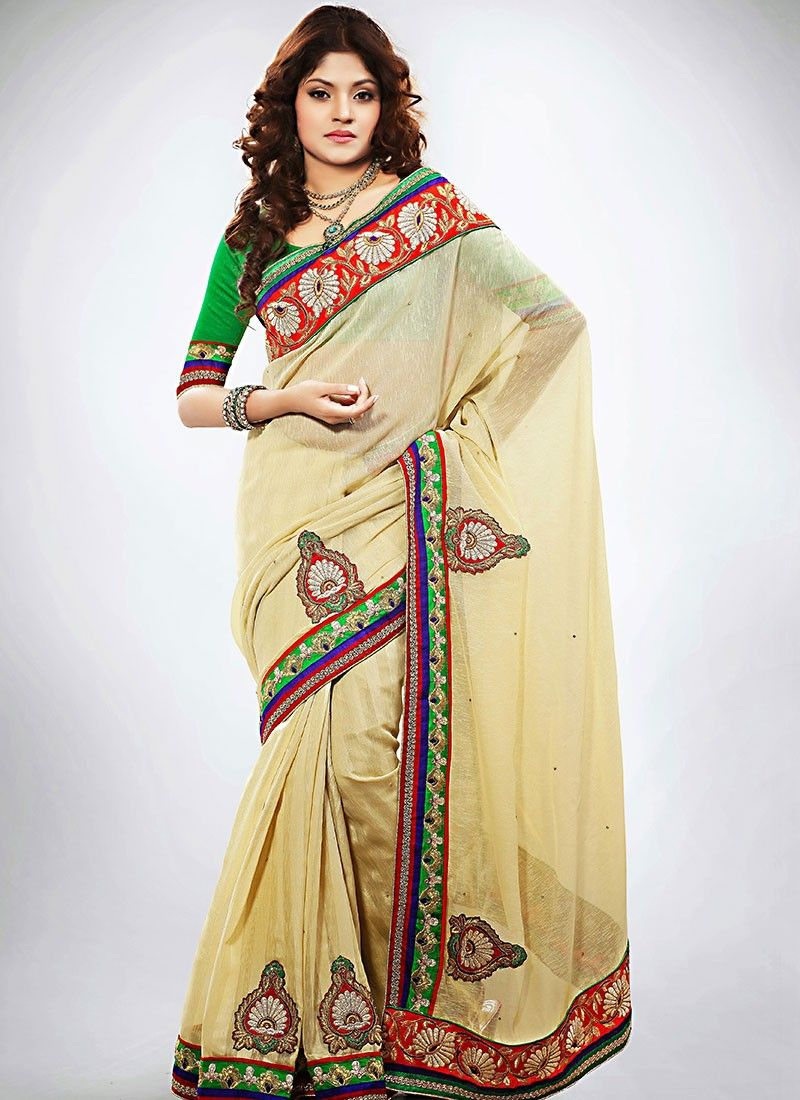 Beige Jute Wedding Saree