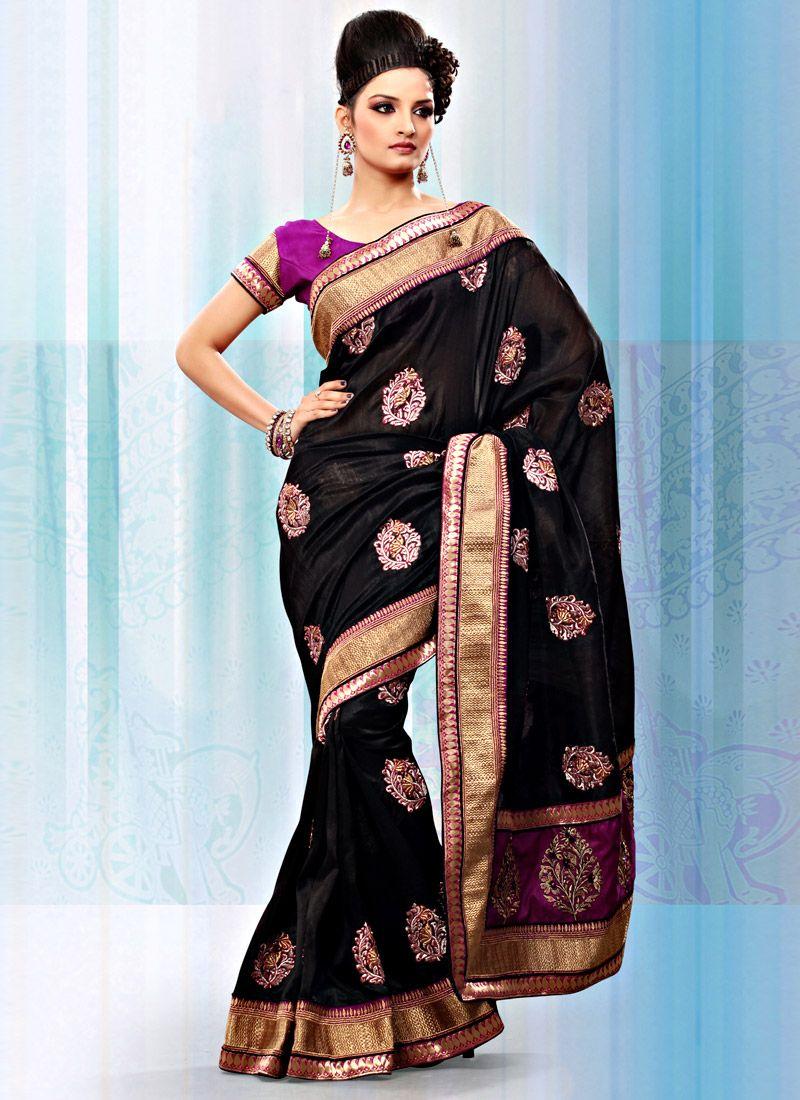 Black Art Bhagalpuri Silk Saree