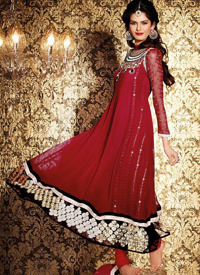 Diva Burgundy Salwar Kameez