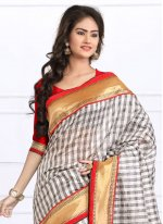 Bhagalpuri Silk Lace Work Casual Saree