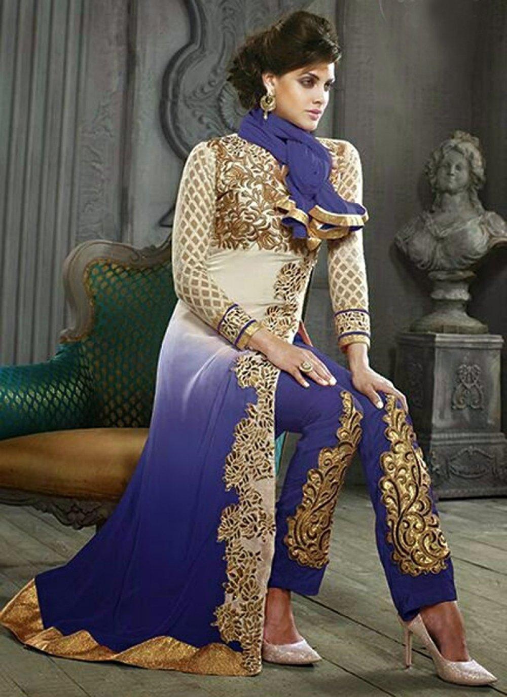 Blue Georgette Salwar Suit