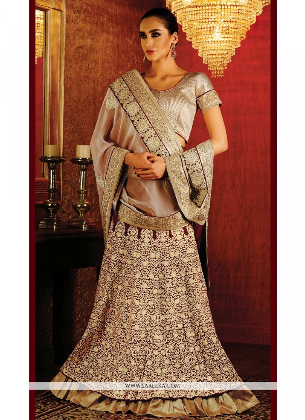 Embroidered Work Lehenga Saree