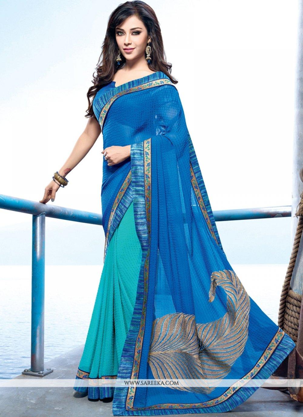 Lace Work Designer Saree