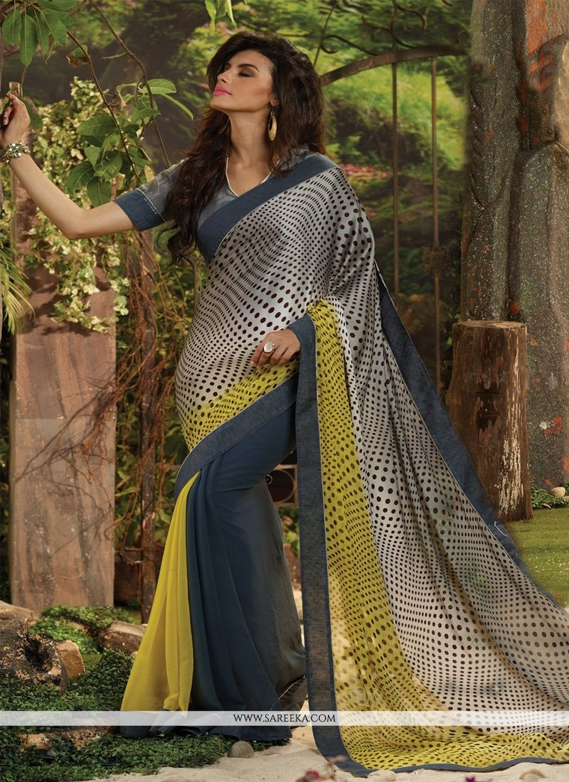 Grey Casual Saree