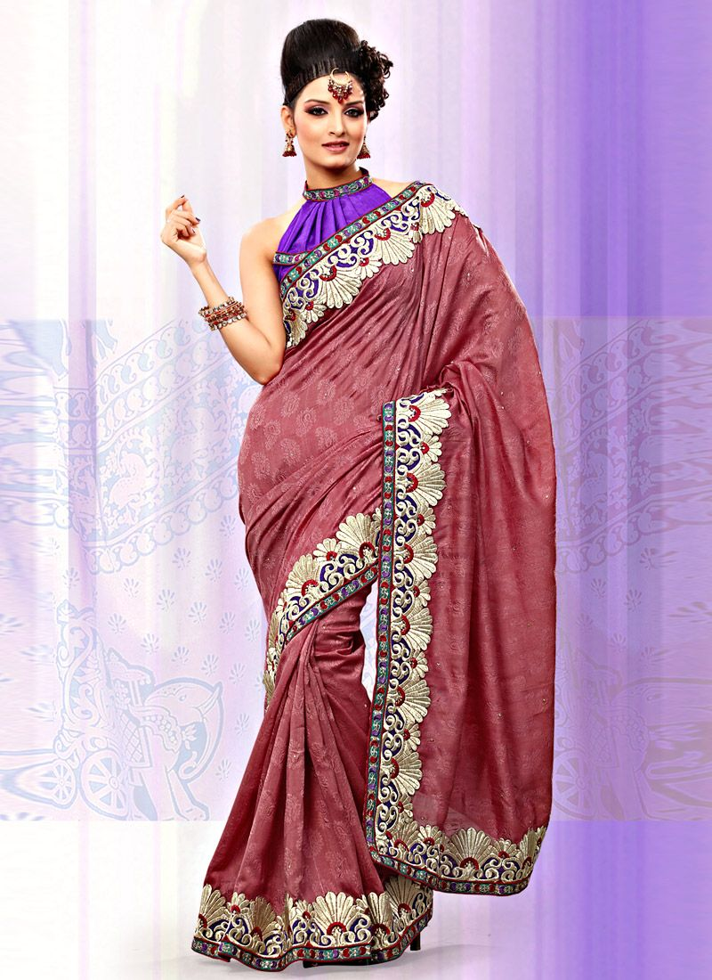 Dusty Maroon Art Bhagalpuri Jacquard Silk Saree