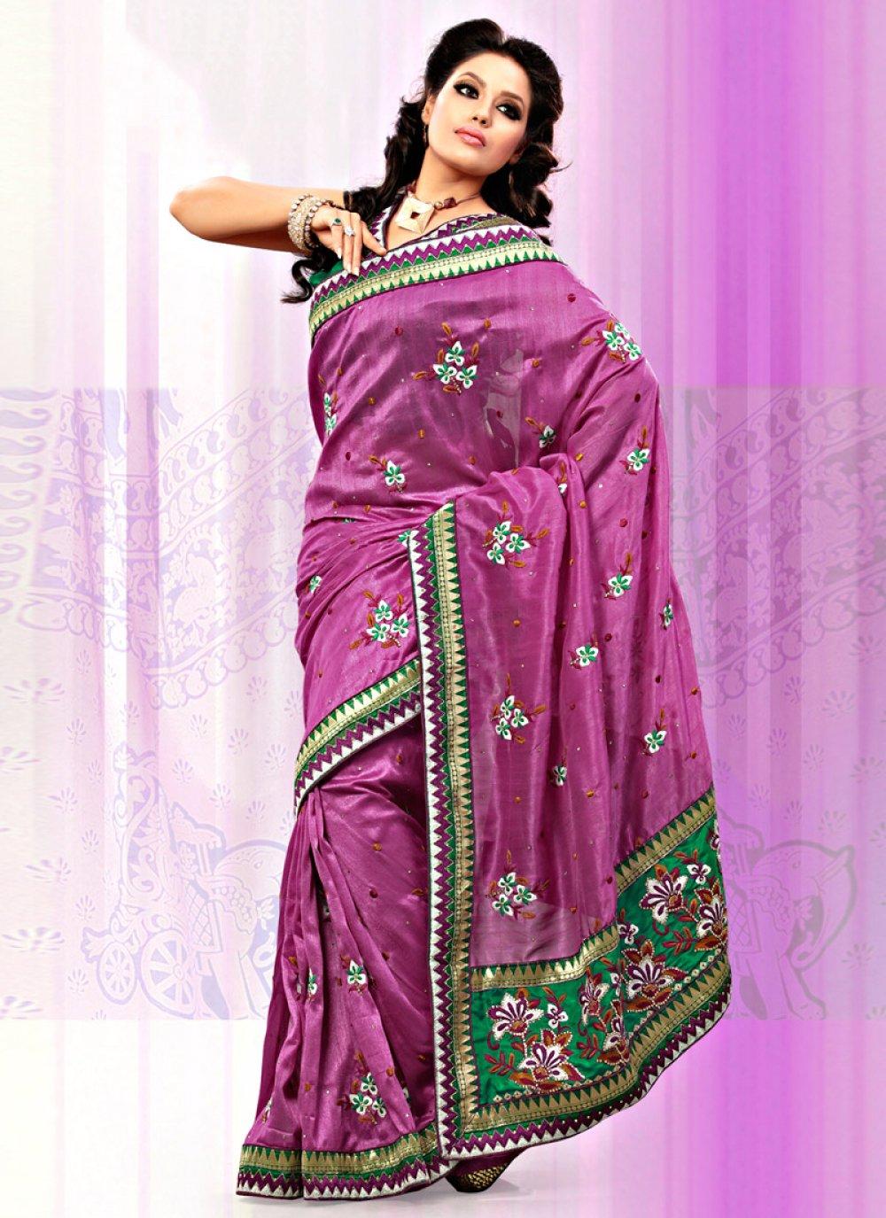 Dusty Pink Art Bhagalpuri Silk Saree