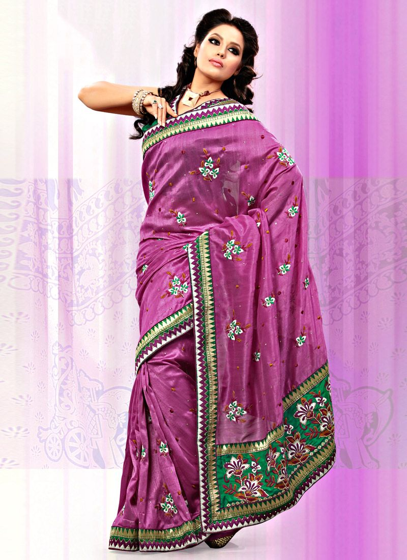 Dusty Pink Art Bhagalpuri Silk Saree