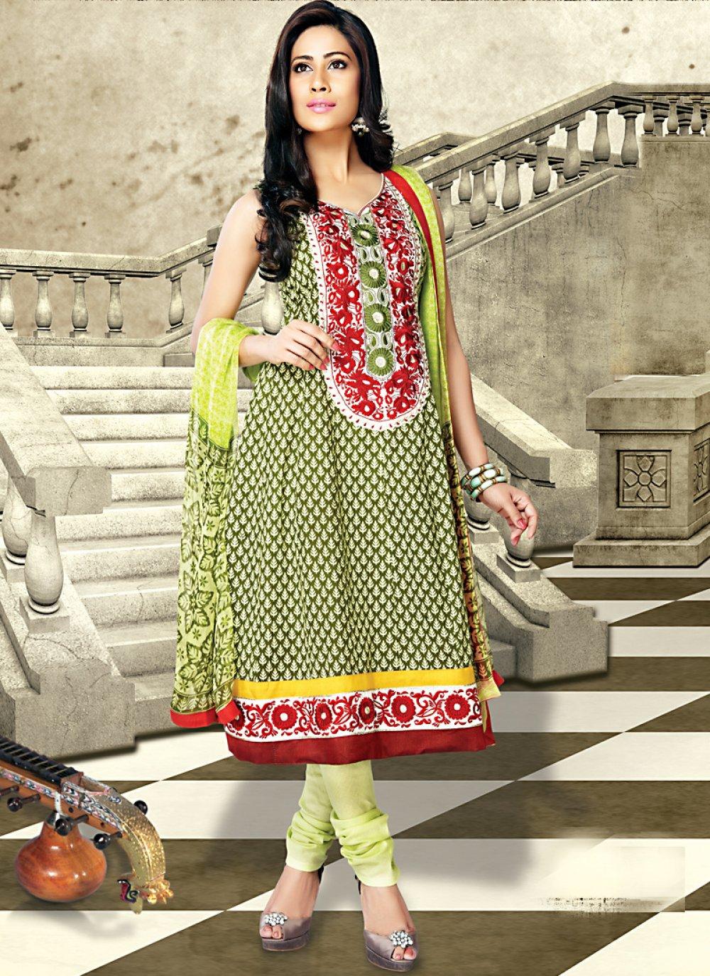 Aloe Vera Green Salwar Kameez