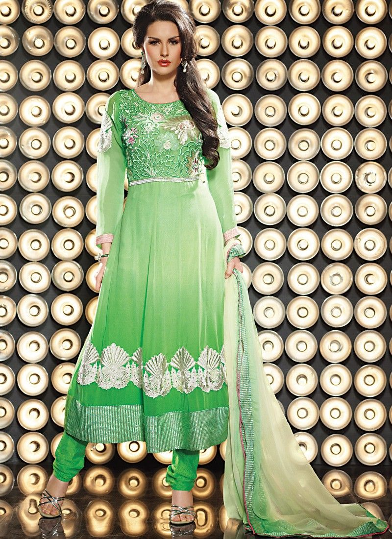 Green Anarkali