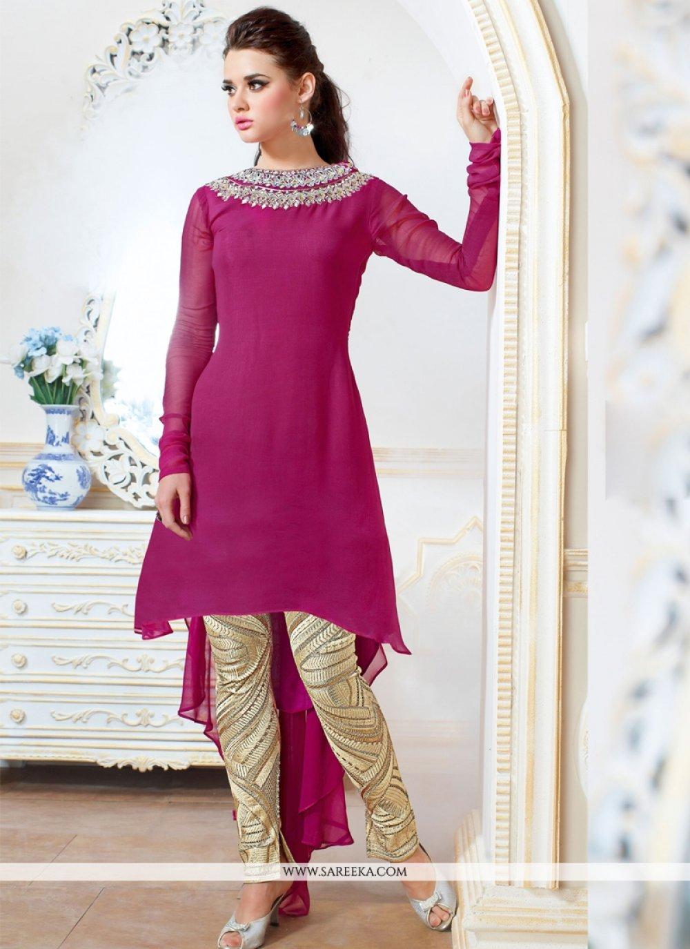 Magenta Salwar Suit