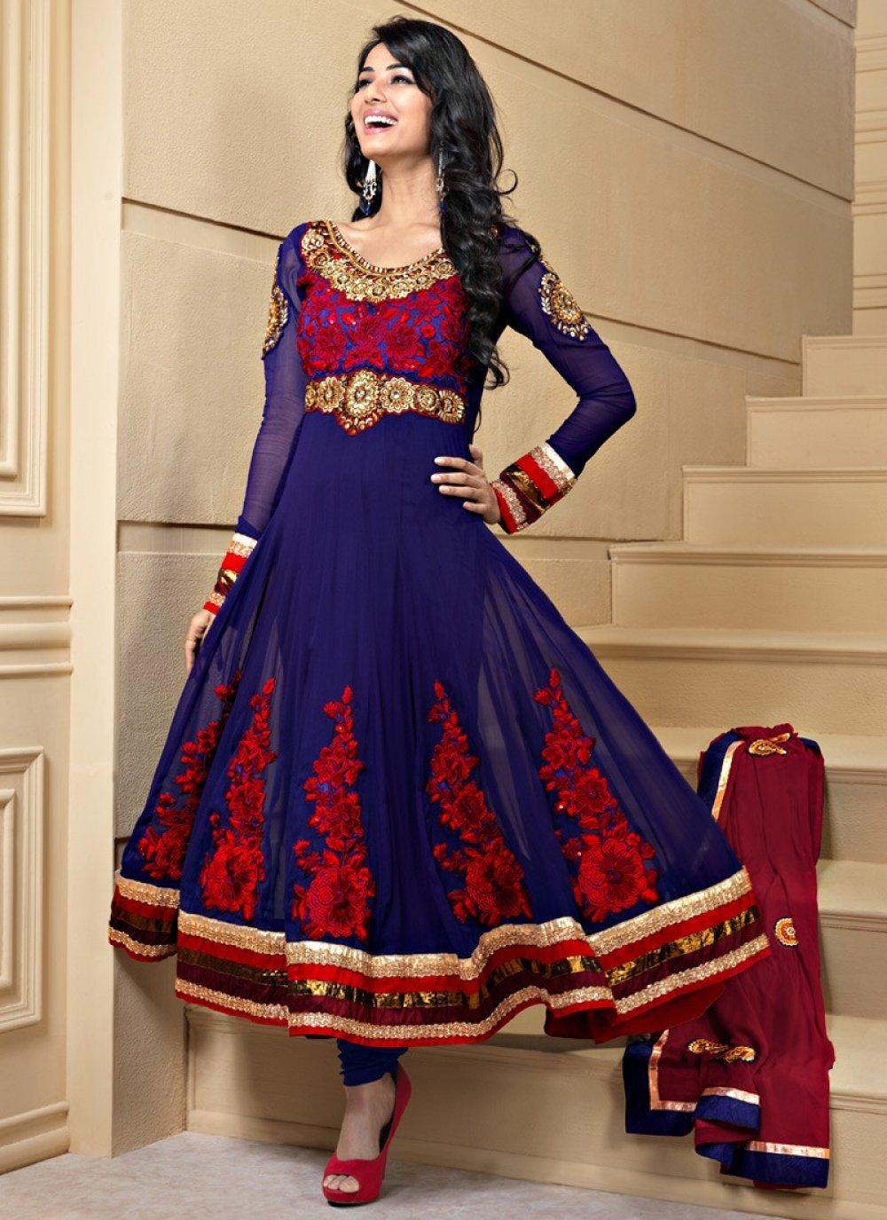 Nvy Blue Salwar Kameez