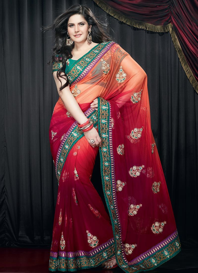 Sequins & Jari Work Saree