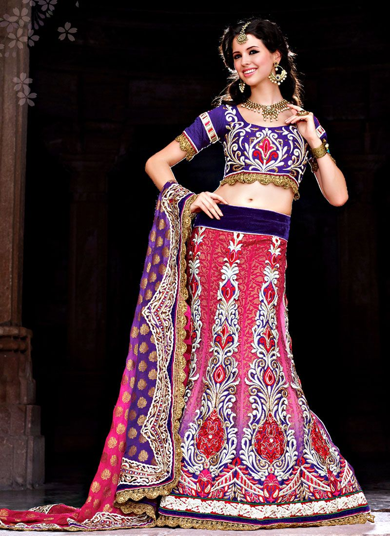 Enhancing Multi Colour Net Kalidar Lehenga Choli