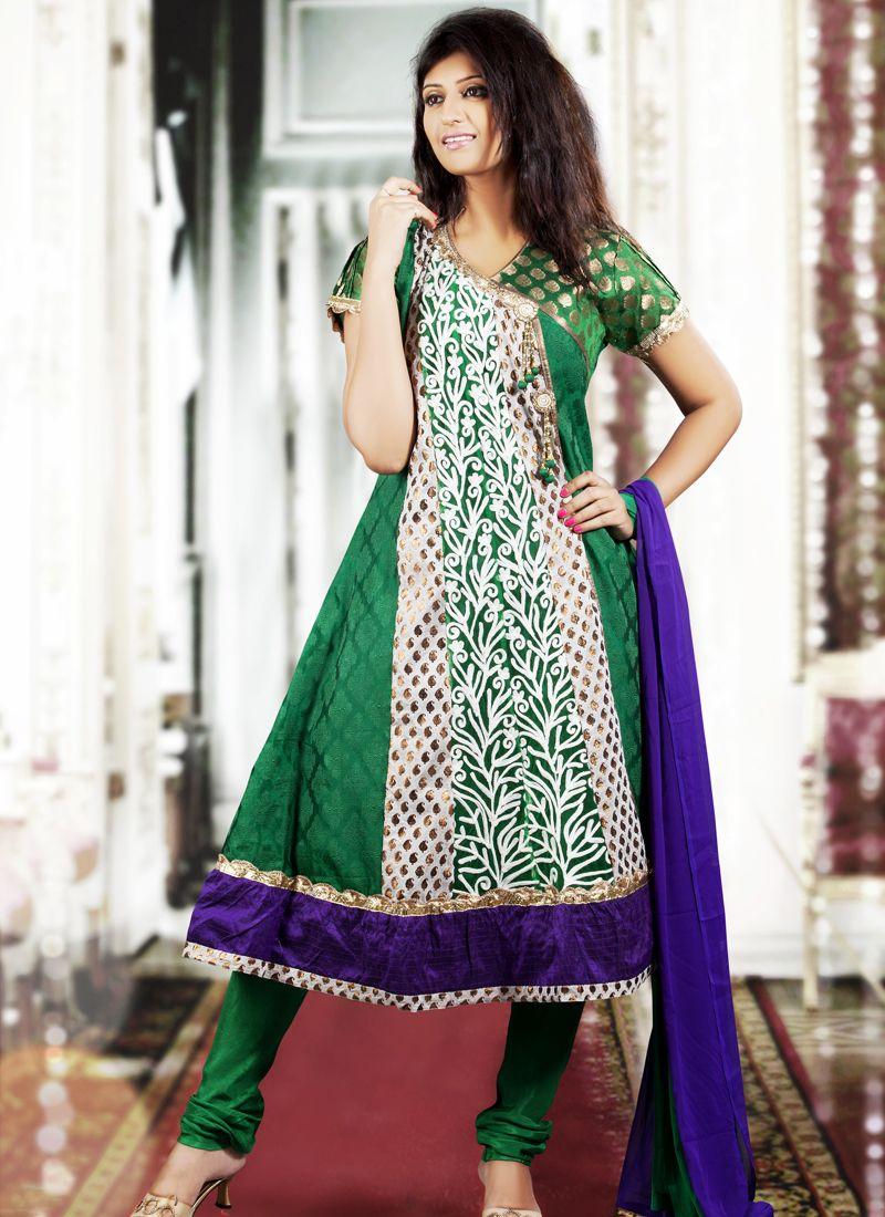 Enigmatic Emerald Green Salwar Kameez