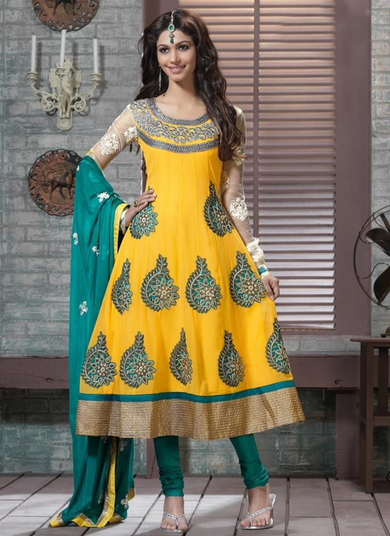 Enigmatic Gold Color Anarkali