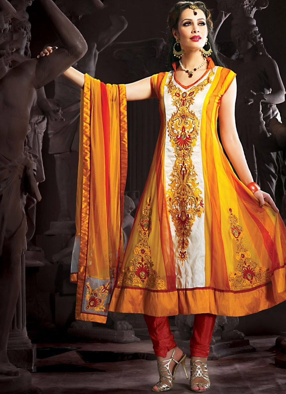 Enigmatic Gold Color Salwar Kameez