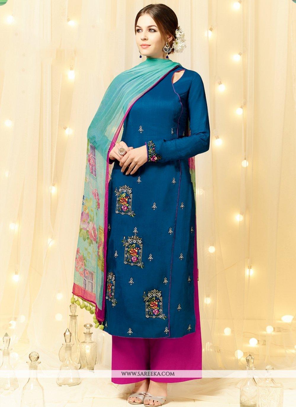 Cotton Satin Pakistani Suit
