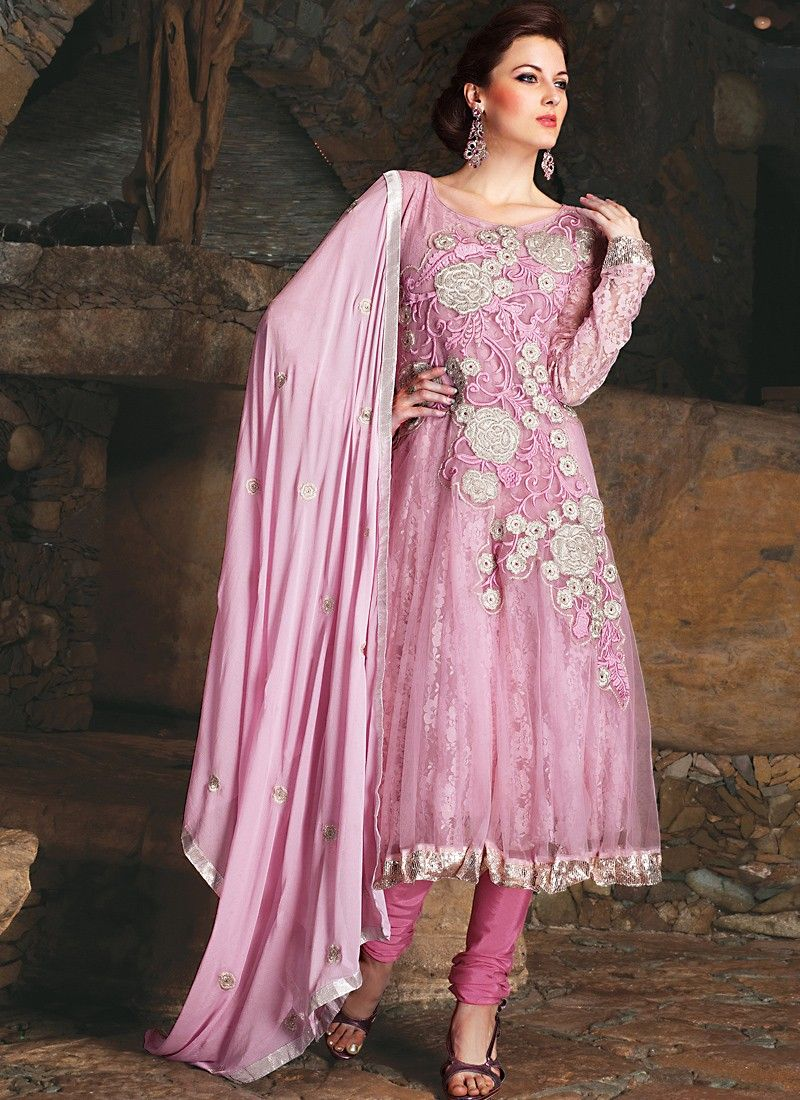 42a65812a2 Rose Pink Salwar Kameez -
