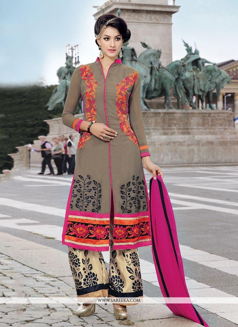 Resham Work Designer Palazzo Suit