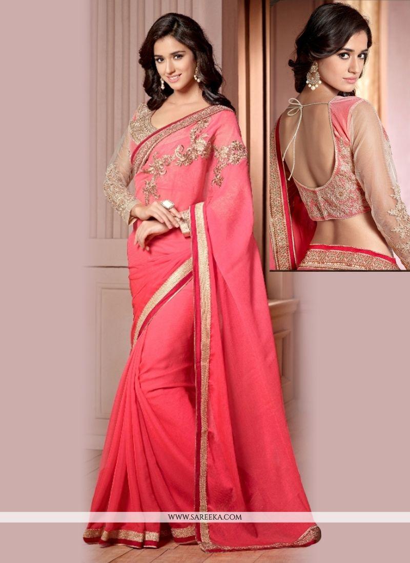 Lace Work Georgette Designer Saree
