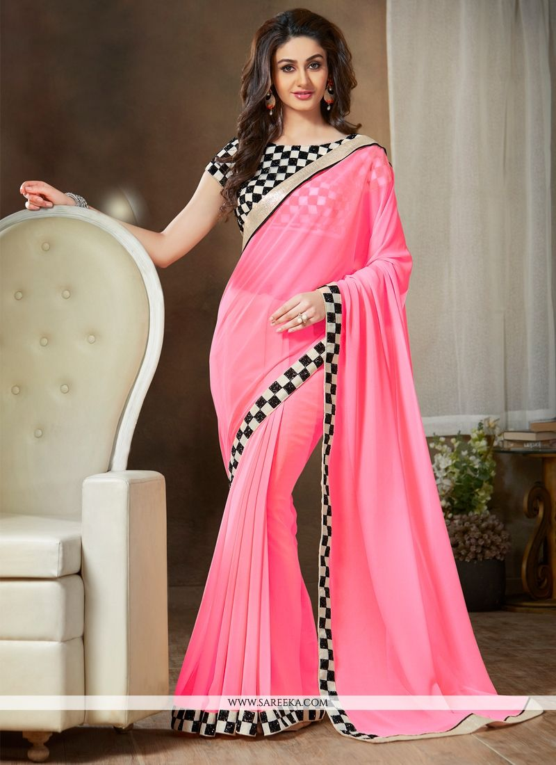 Lace Work Casual Saree