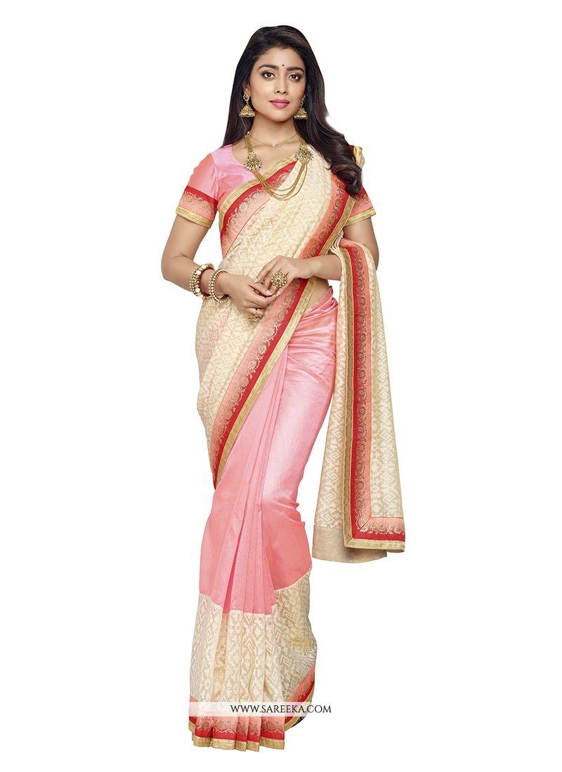 Patch Border Work Banarasi Silk Designer Saree