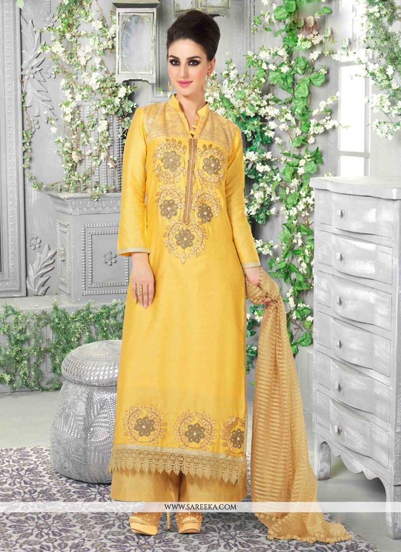 Cotton Satin Designer Pakistani Suit