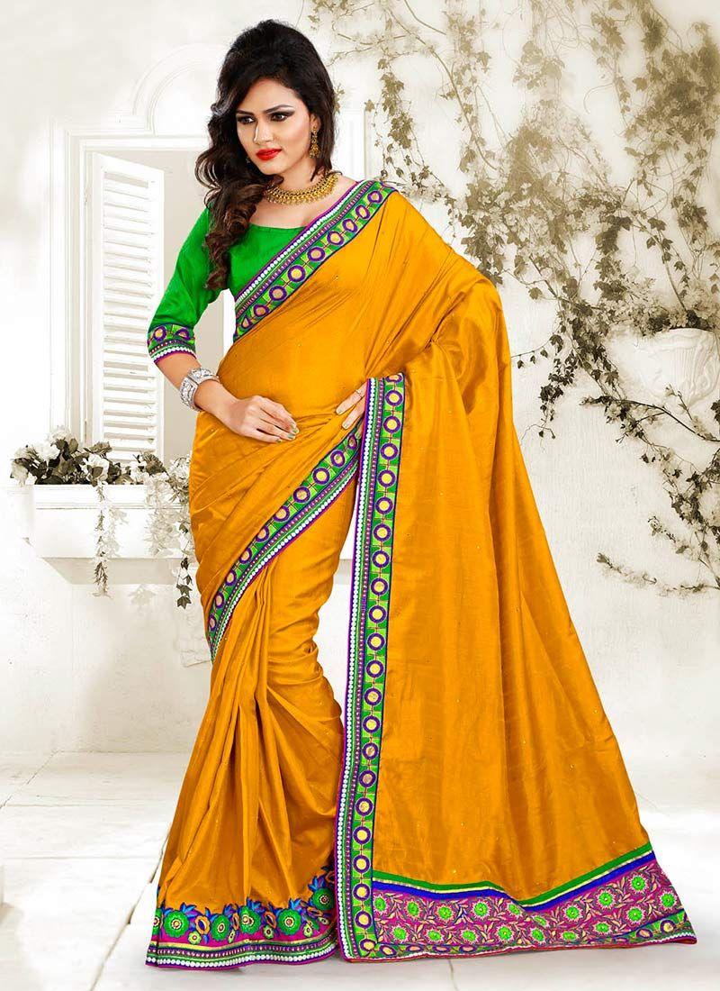 Yellow Manipuri Silk Saree