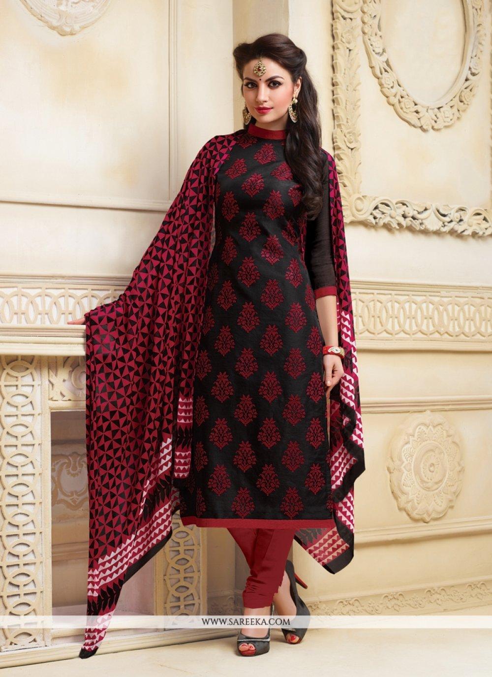 Lace Work Churidar Salwar Suit
