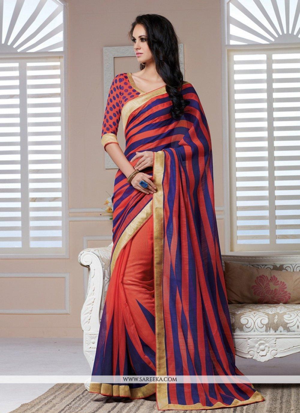 Silk Multi Colour Casual Saree
