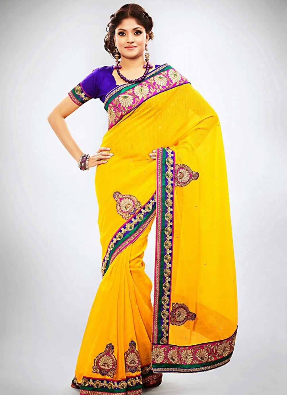 Exclusively Yellow Jute Wedding Saree