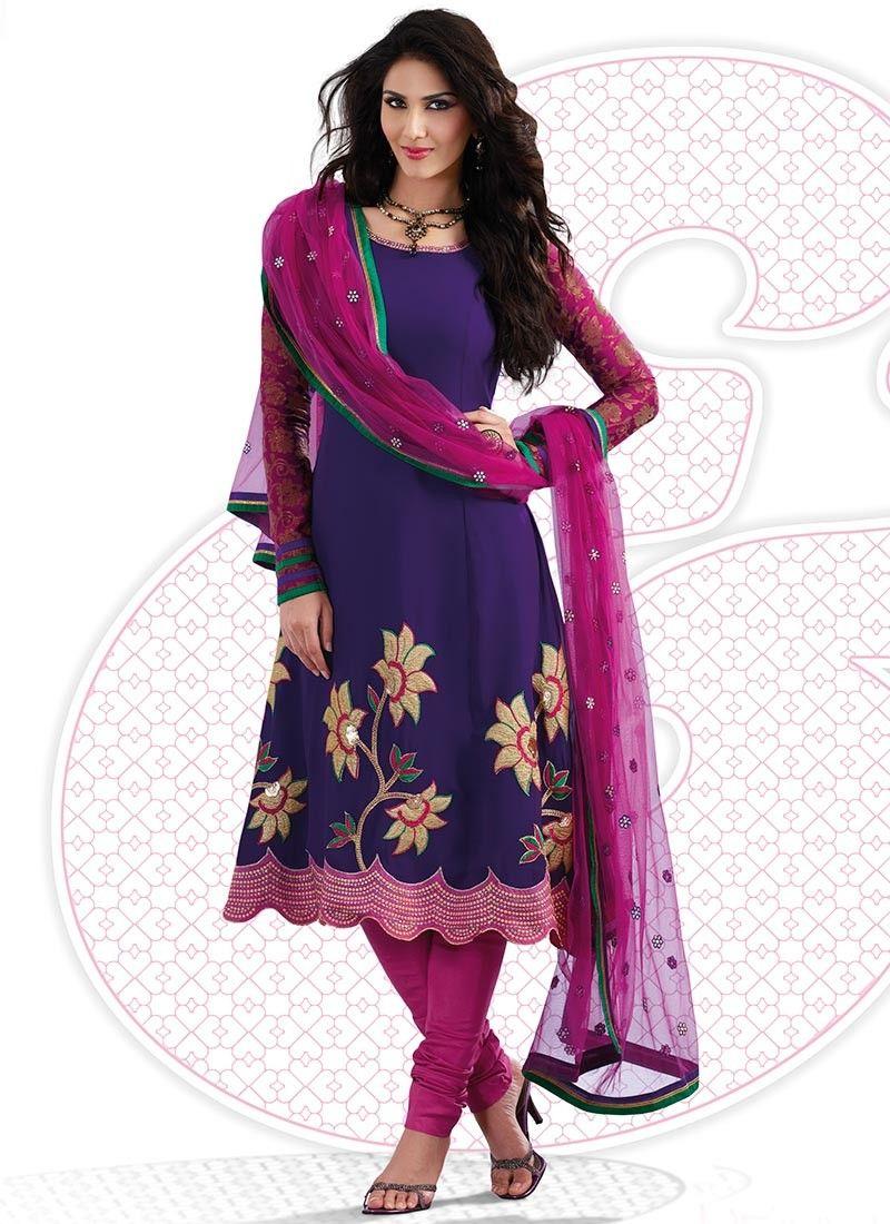 Deep Bluish Purple Salwar Kameez
