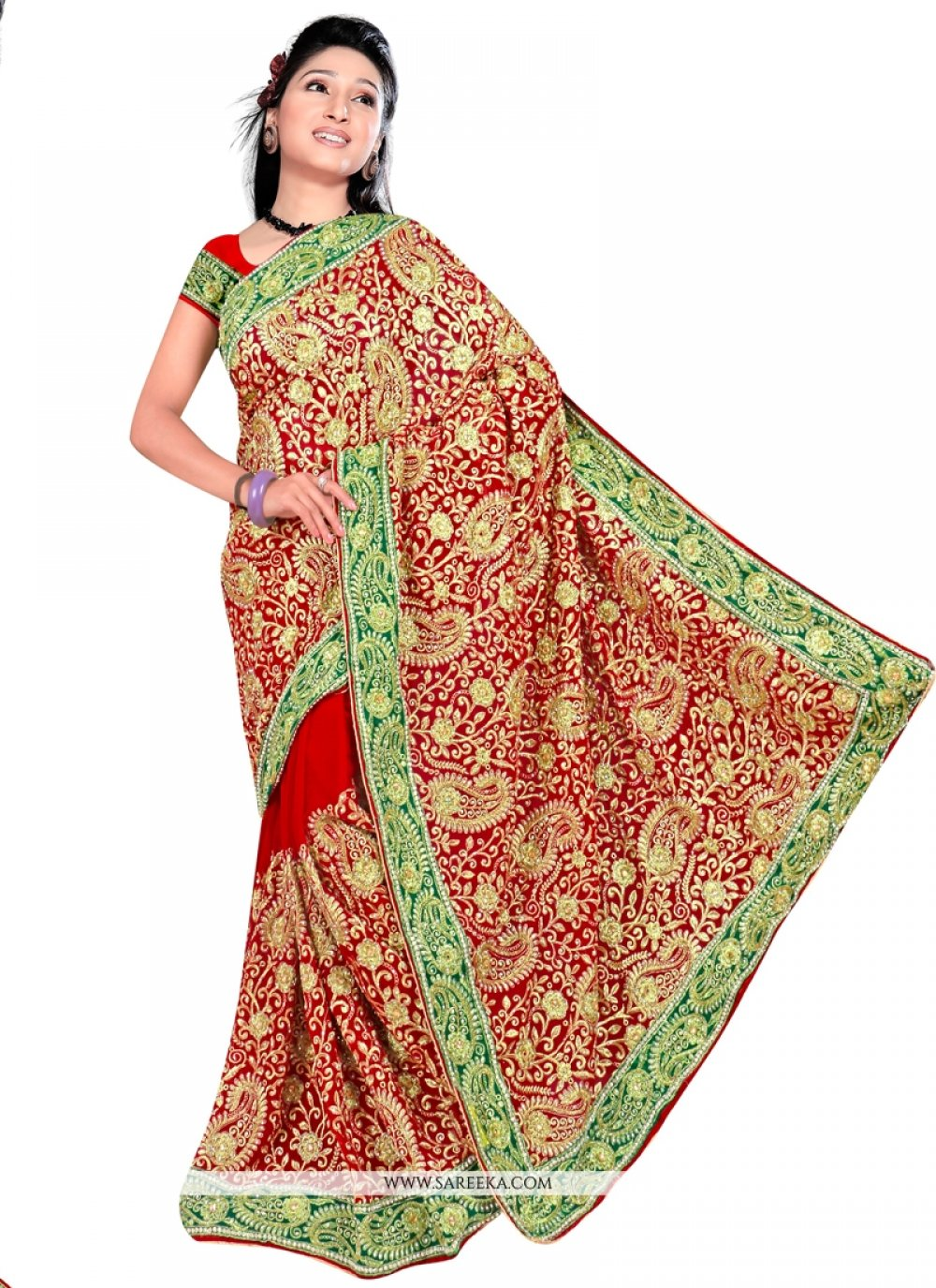 Georgette Designer Contemporary Saree