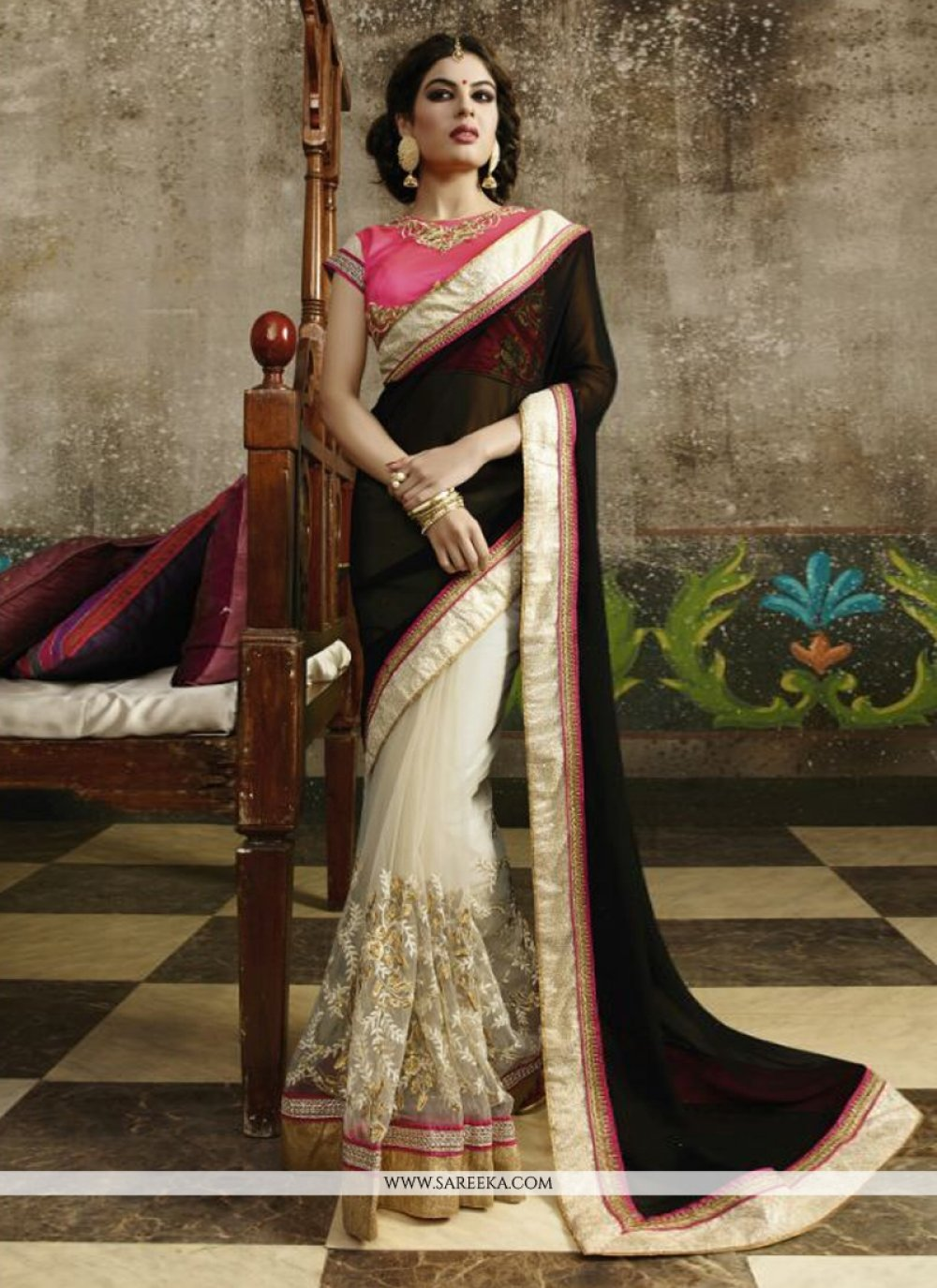 Zari Work Net Designer Saree