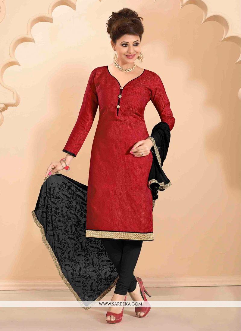 Jute Silk Churidar Designer Suit