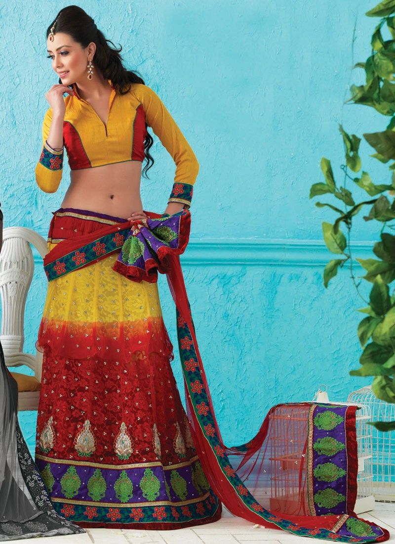 Fancy Bick Red & Gold Color Lehenga Choli