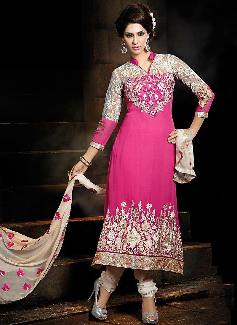 Fancy Deep Pink Anarkali