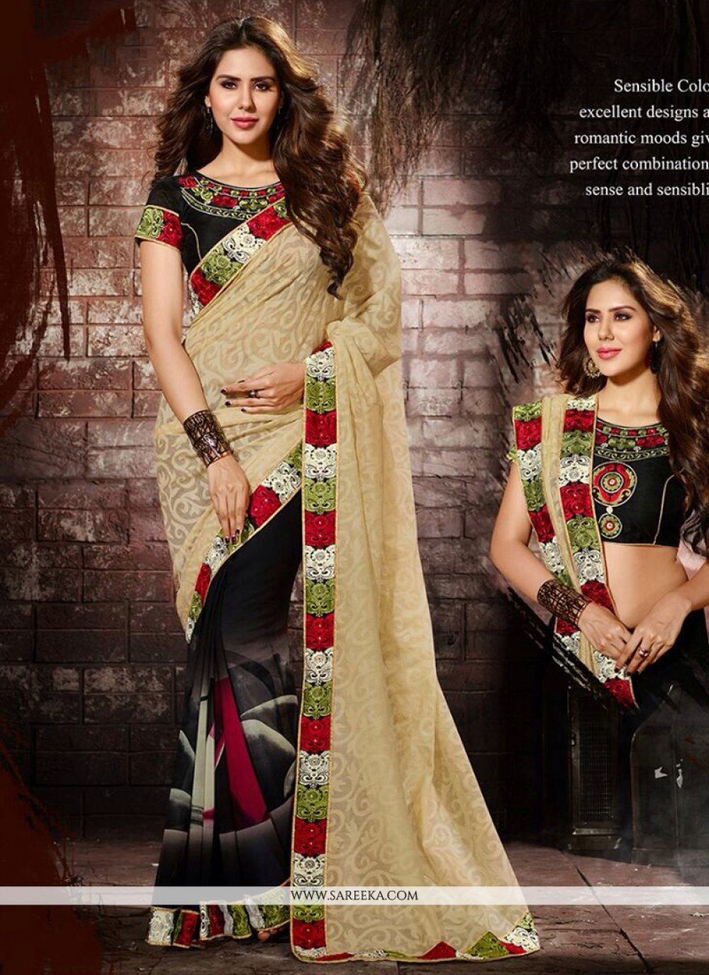 Jacquard Print Work Casual Saree