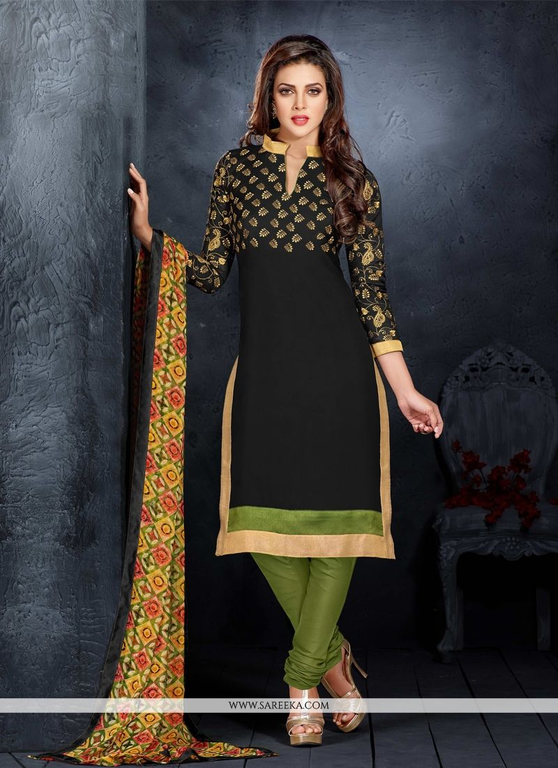 Black Churidar Salwar Kameez