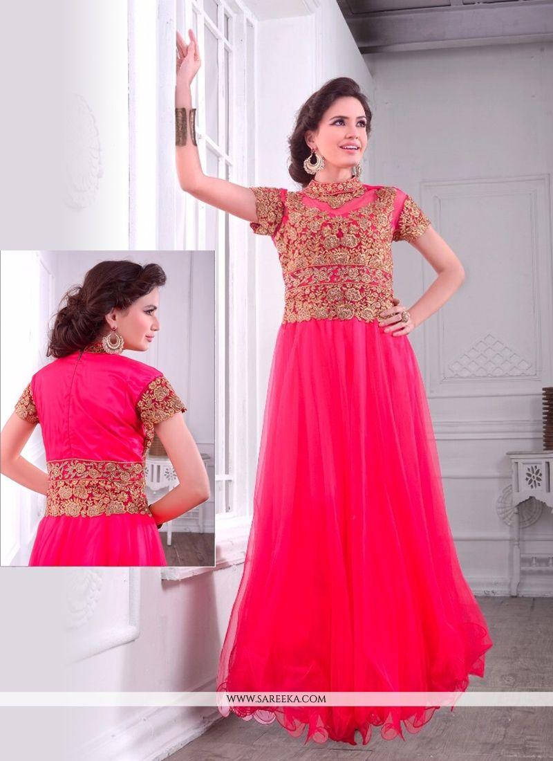 Net Embroidered Work Designer Gown