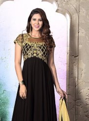 Georgette Black Anarkali Salwar Suit