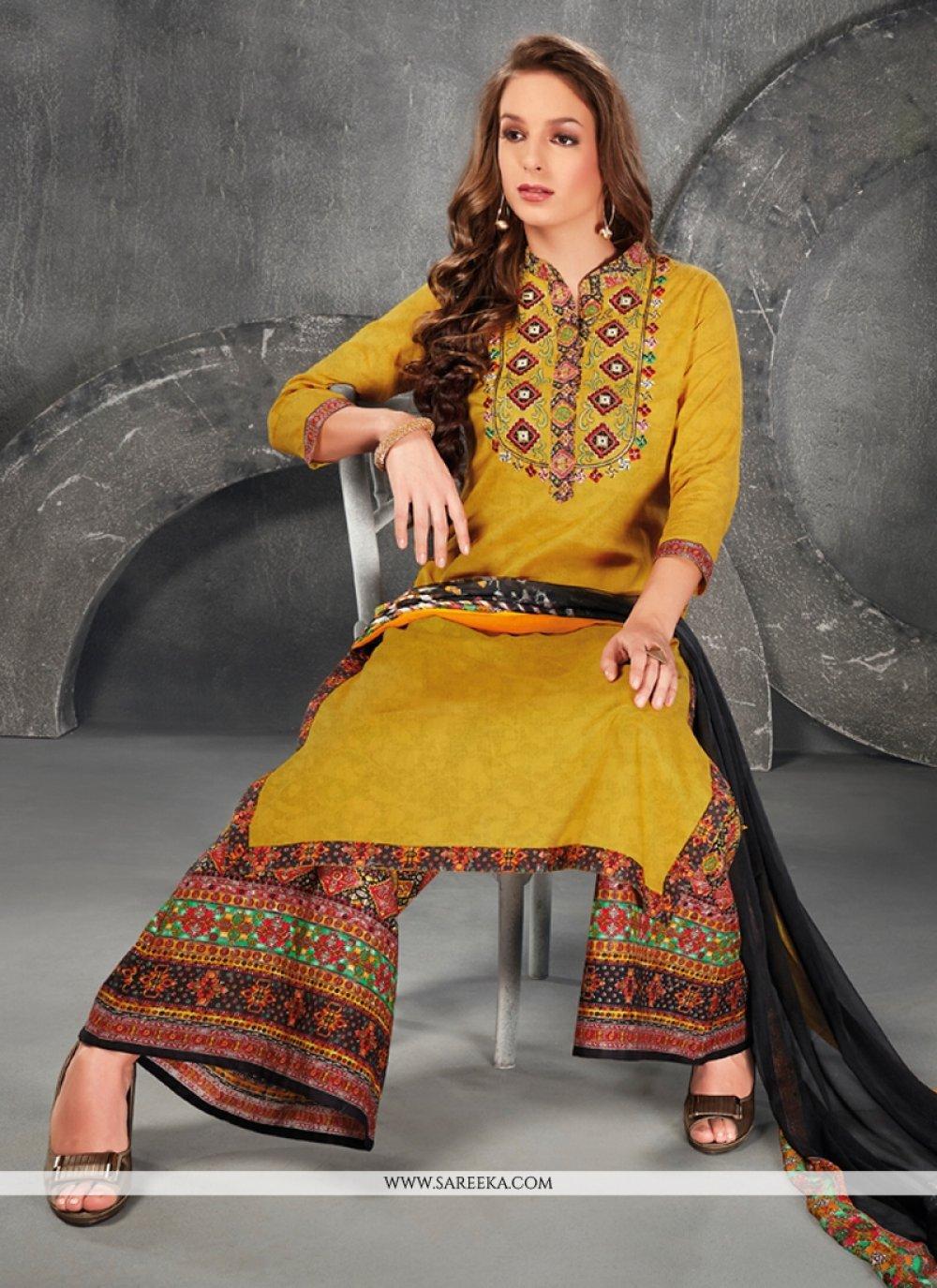 Embroidered Work Cotton   Designer Suit